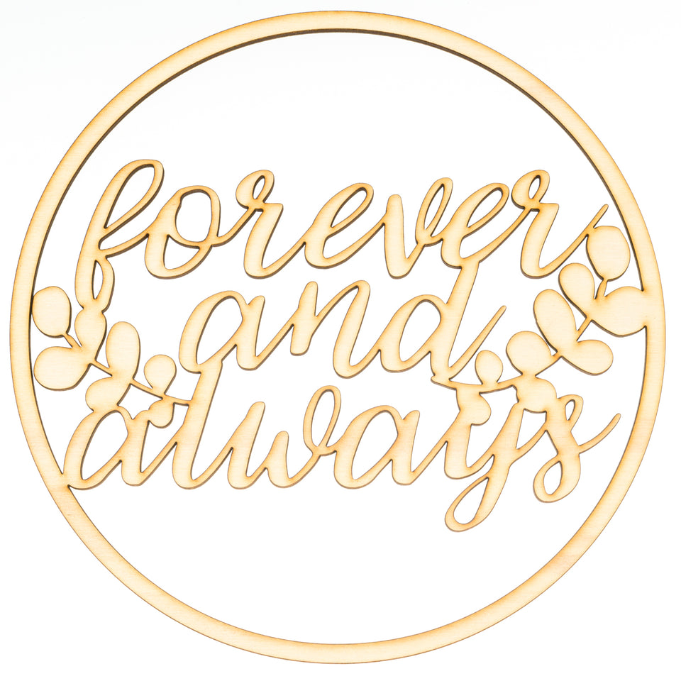 """forever and always"" Ringdekoration"