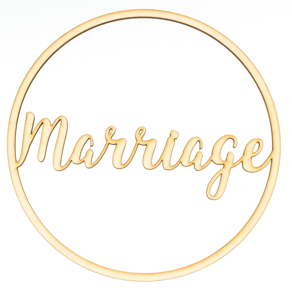 """Marriage"" Ringdekoration"