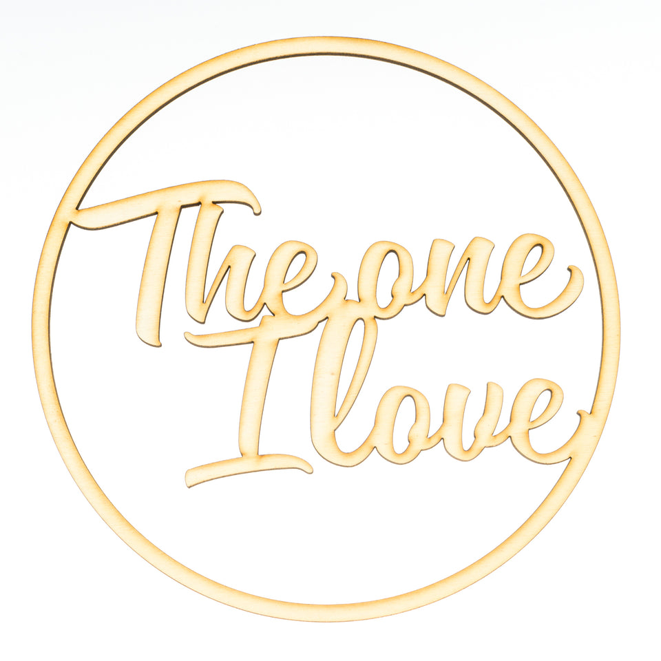 """the one i love"" Ringdekoration"
