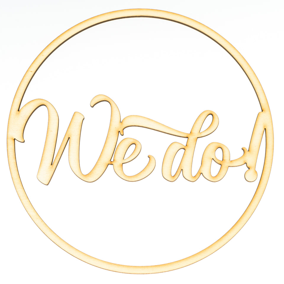 """we do"" Ringdekoration"