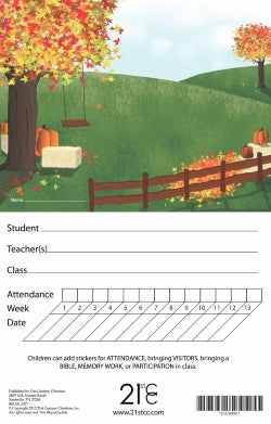 Autumn Scene Attendance Card