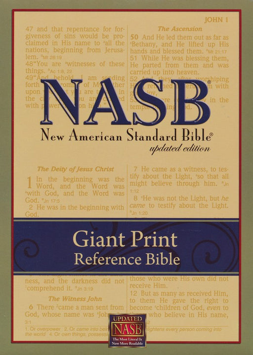 NASB Giant Print Reference Bible - Black Leathertex Indexed