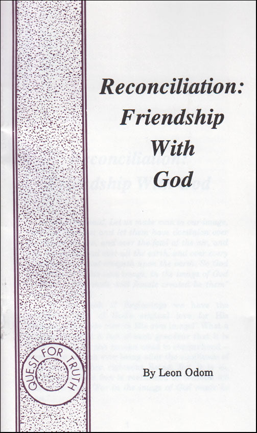Reconciliation: Friendship With God
