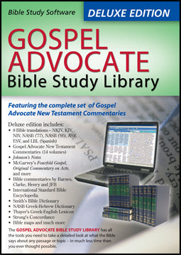 Gospel Advocate Bible Study Library - Deluxe Edition, CD-Rom