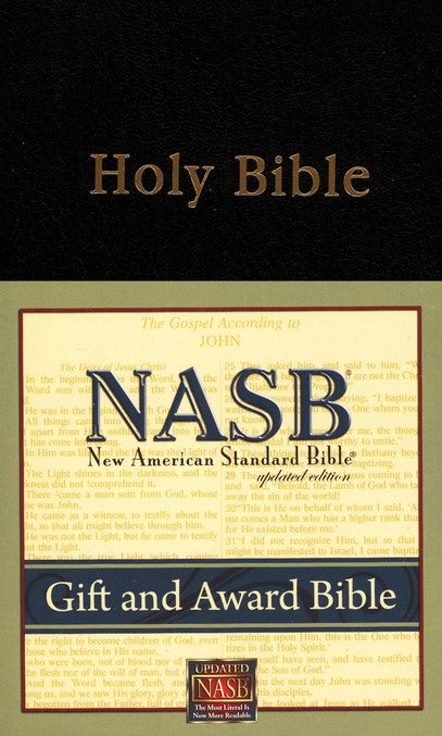 NAS Gift & Award Bible Updated - Black Imitation Leather