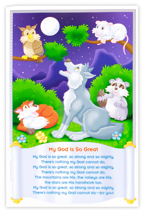 Children's Bible Songs Bulletin Board
