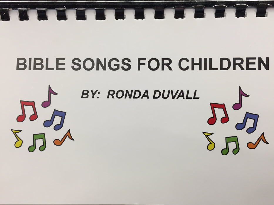 Bible Songs for Children (flip book and CD)