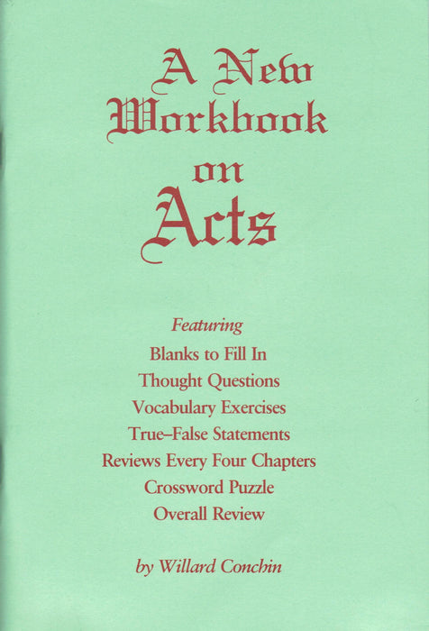 A New Workbook On Acts