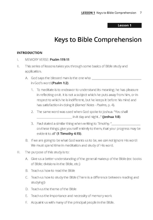 Keys to Understanding the Bible
