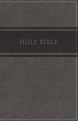 KJV Deluxe Gift Bible Gray Leathersoft