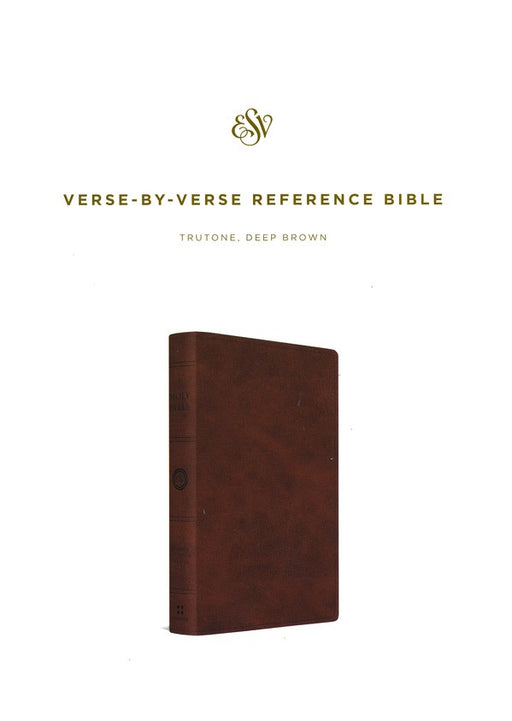 ESV Verse-By-Verse Reference Bible Deep Brown TruTone