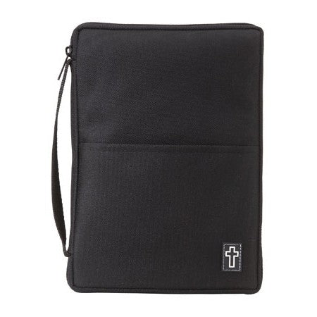 Bible Cover - Canvas Thinline Black -  Medium