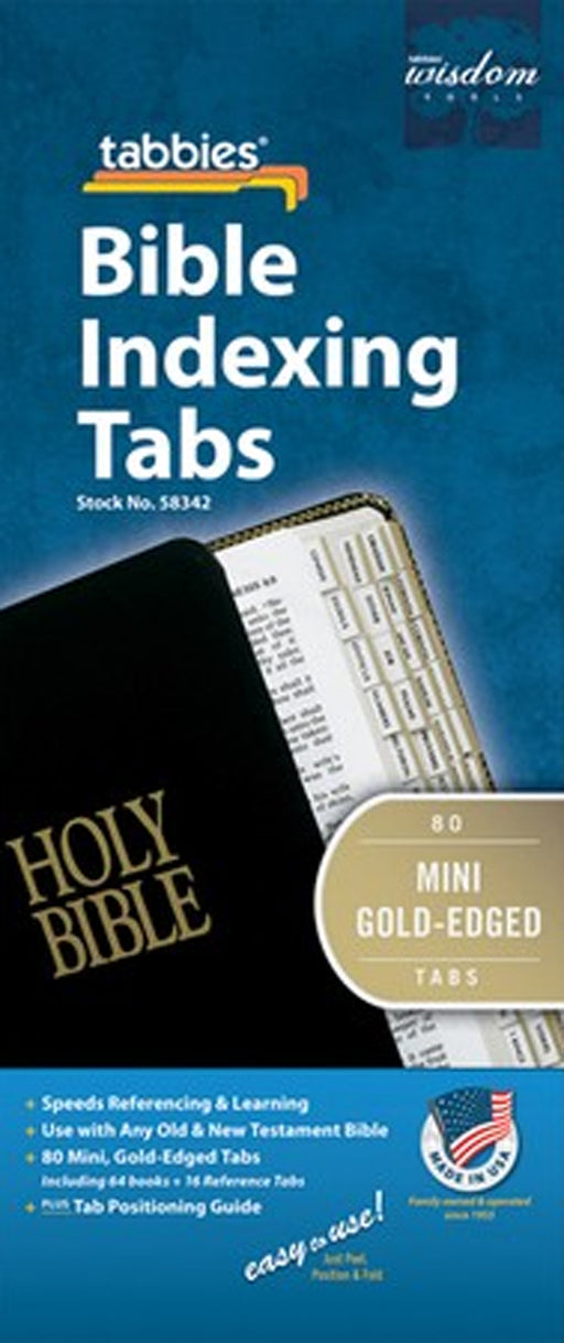 Tabbies OT / NT Mini Gold Bible Indexing Tabs
