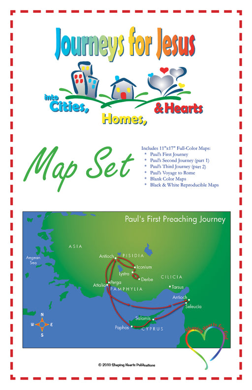 Journeys for Jesus VBS Map Set