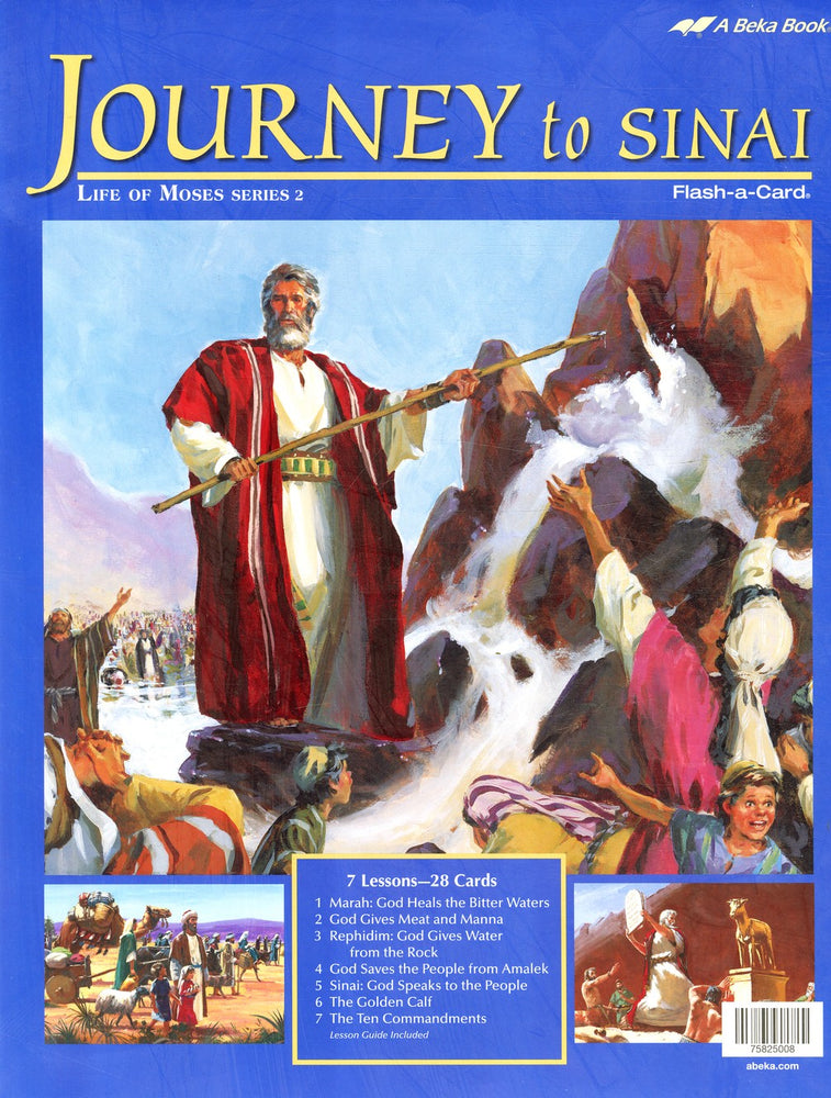 Journey to Sinai (Life of Moses Series 2) - Abeka Flash-A-Card