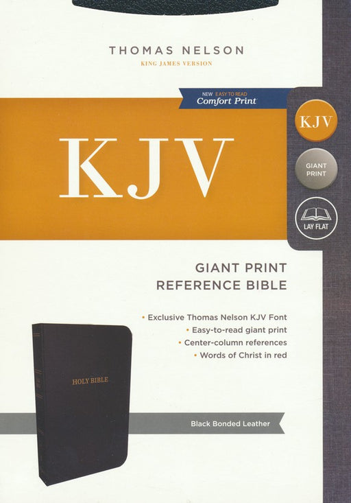 KJV Giant Print Reference Bible Black Bonded Indexed