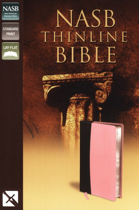 NASB Thinline Bible Pink/Chocolate Italian DuoTone