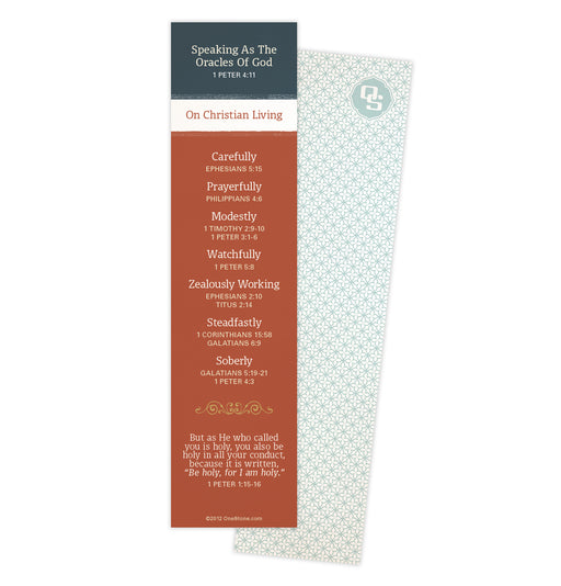 Christian Living Bookmark