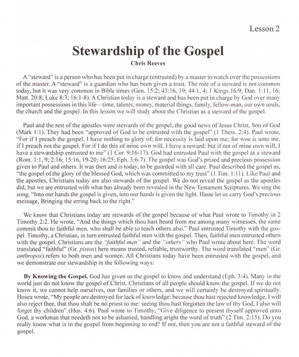Give Account of Your Stewardship 5