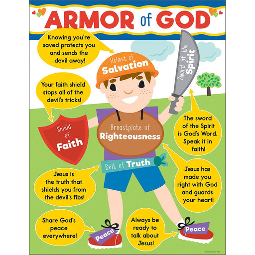 Armor of God for Kids Wall Chart