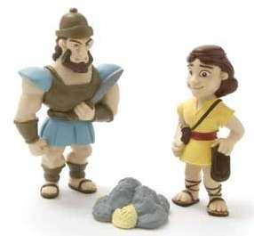 David and Goliath Figurine Set - Tales of Glory