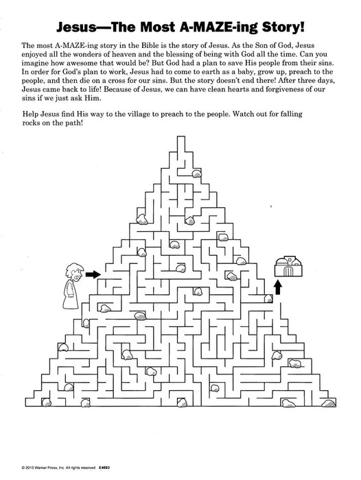 God Is A-Maze-Ing Activity Book