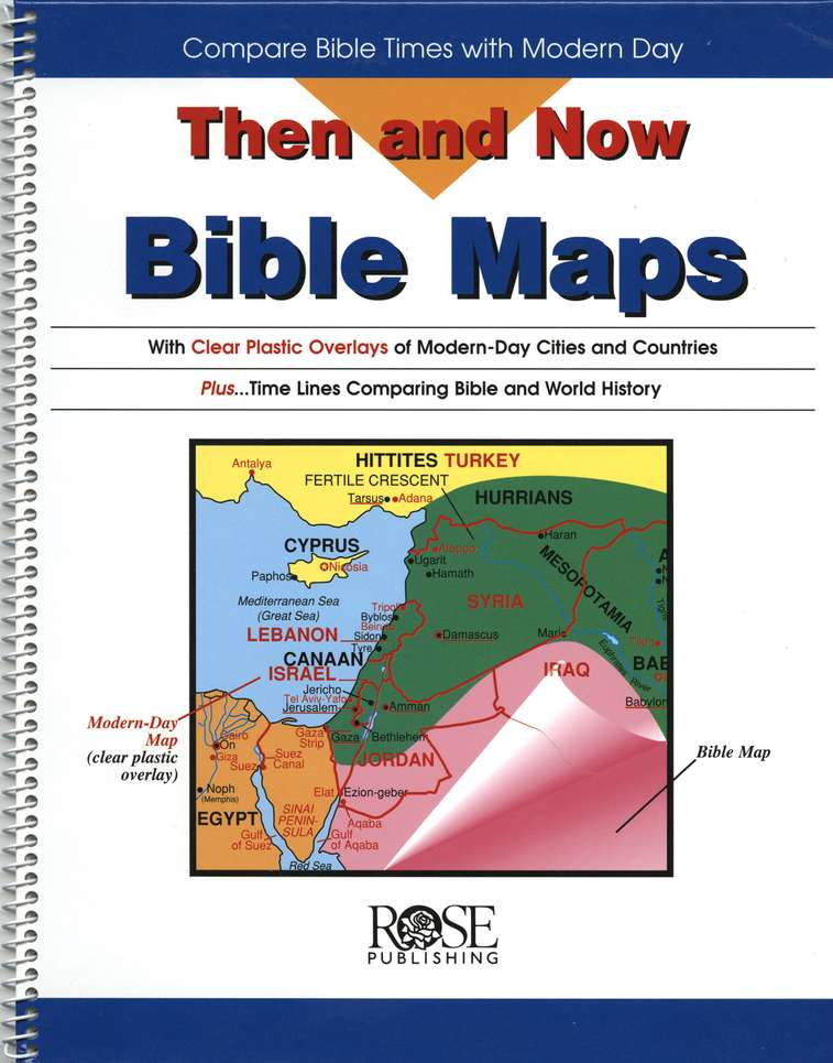 Then and Now Bible Maps Spiral Bound Book