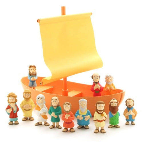 Galilee Boat with Apostles Figurine Play Set - Tales of Glory
