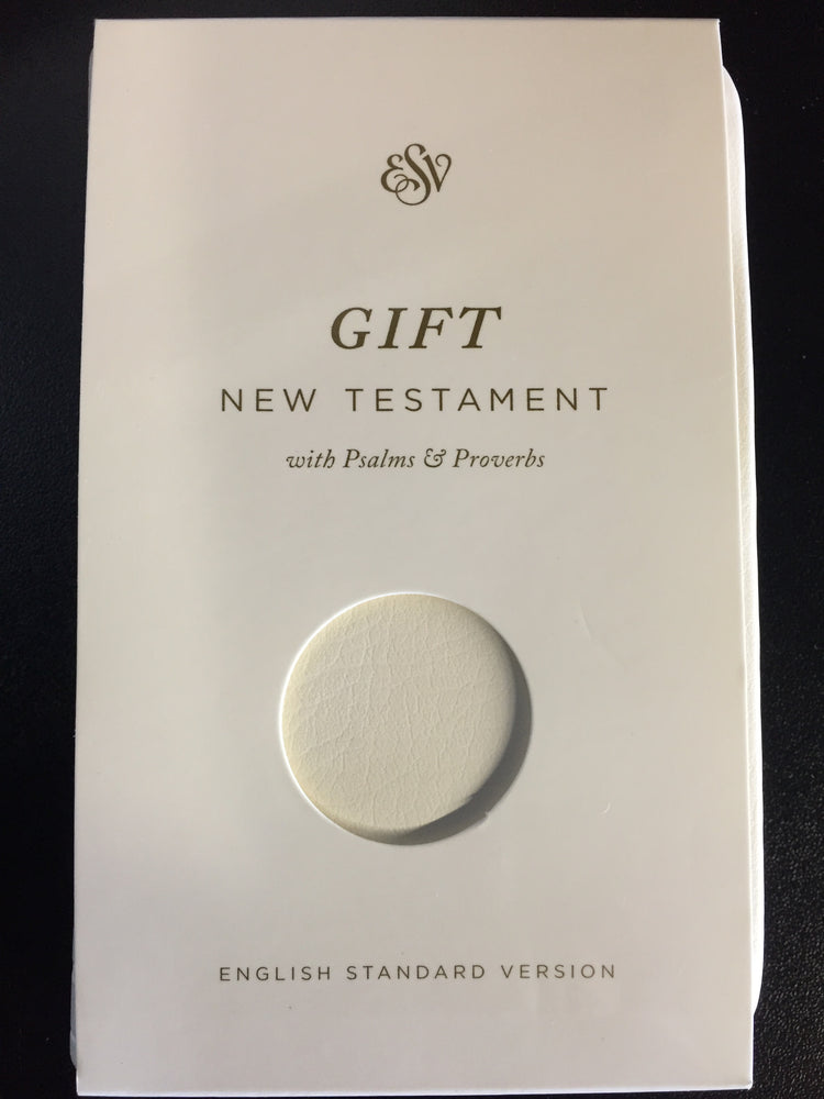 ESV Baby New Testament with Psalms and Proverbs, White TruTone