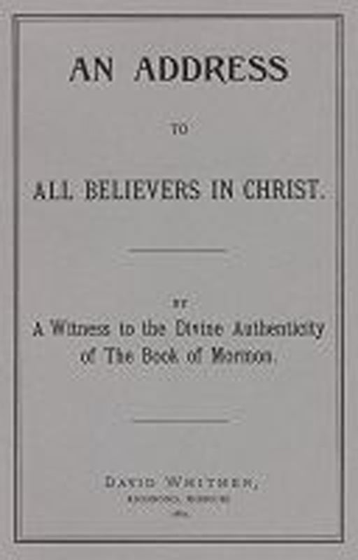 An Address To All Believers In Christ
