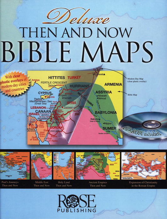 Deluxe Then and Now Bible Maps with CD