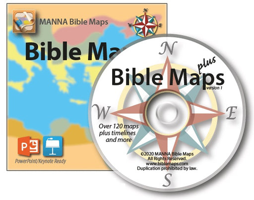 Manna Bible Maps Plus