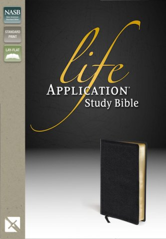 NASB Life Application Study Bible - Black Genuine Leather