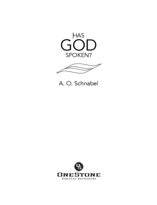 Has God Spoken? - Downloadable Single User PDF