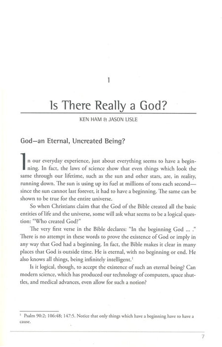 The New Answers Book 1: Over 25 Questions on Creation/Evolution and the Bible
