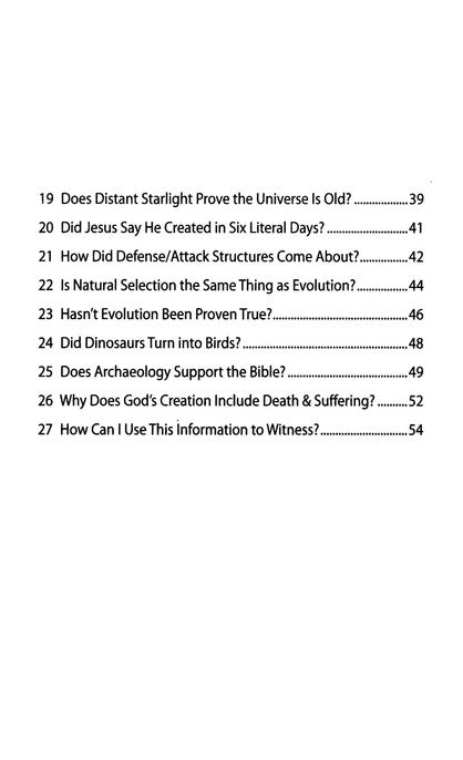 The New Answers Book Study Guide & Workbook