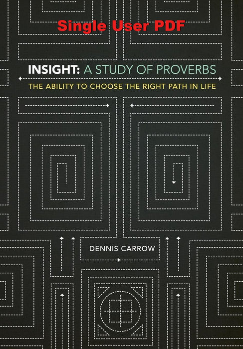 Insight: A Study of Proverbs - Downloadable Single User PDF