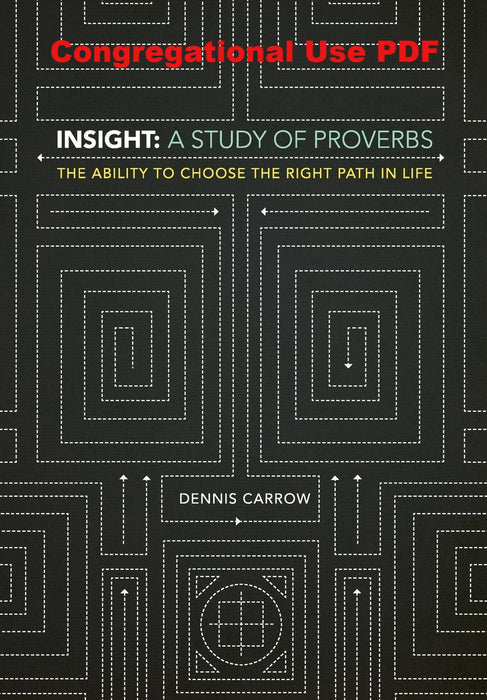 Insight: A Study of Proverbs - Downloadable Congregational Use PDF