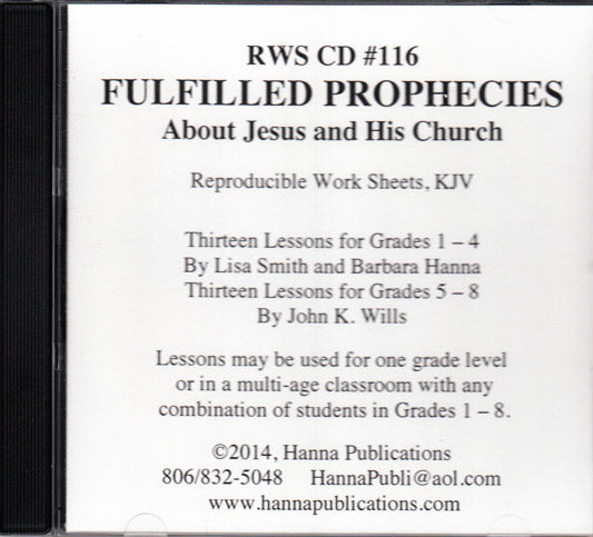 Fulfilled Prophecies About Jesus and His Church CD