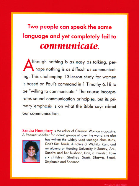 What Do You Communicate? Back Cover