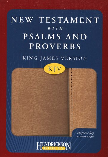 KJV New Testament Bible with Psalms and Proverbs Tan Flexisoft with Magnetic Flap Closure