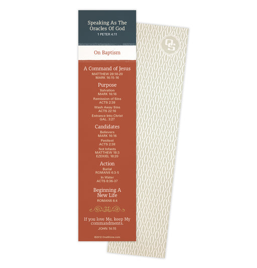 Baptism Oracles Bookmark
