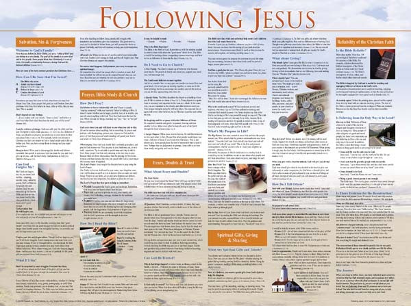 Following Jesus Wall Chart Laminated