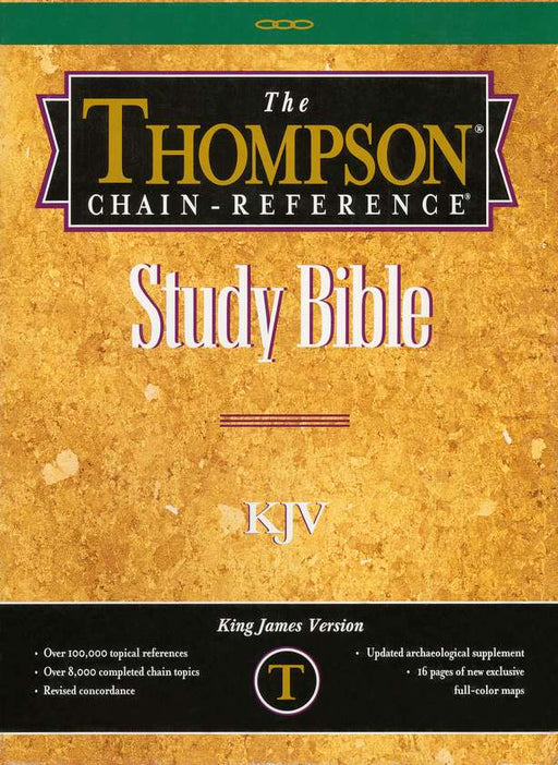 KJV Thompson Chain Reference Bible Genuine Leather