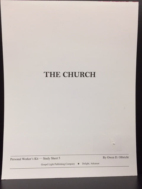 The Church: Personal Worker's Kit - Study Sheet 5