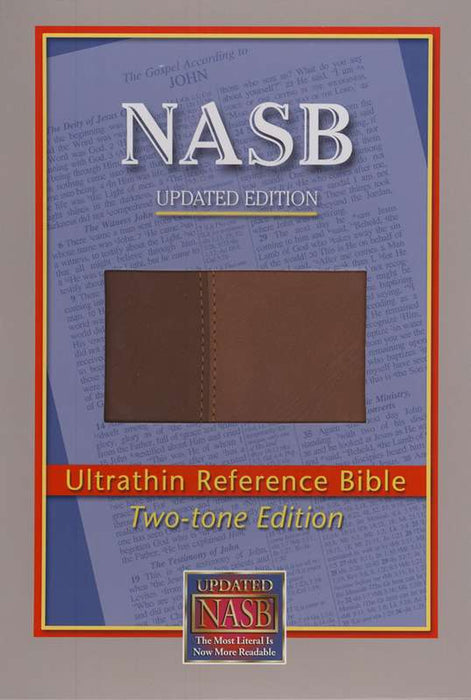 NAS Ultrathin Reference Bible - Brown/Light Brown