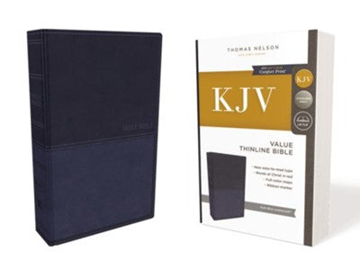 KJV Thinline Value Bible Blue Leathersoft