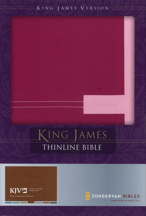 KJV Thinline DuoTone Bible - Razzleberry/Orchid