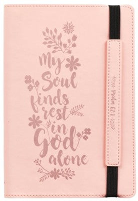 Bullet Journal: My Soul Rests Pink LuxLeather