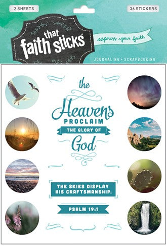 Psalm 19:1 Sticker